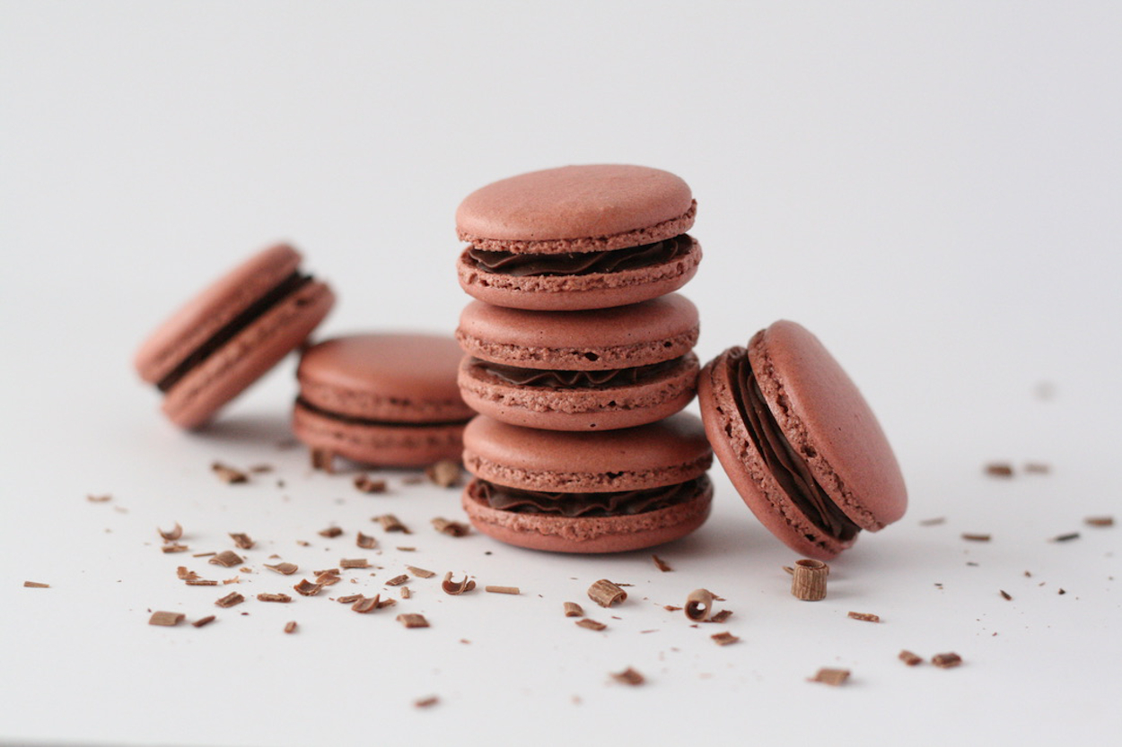 Chocolate Parisian Macarons