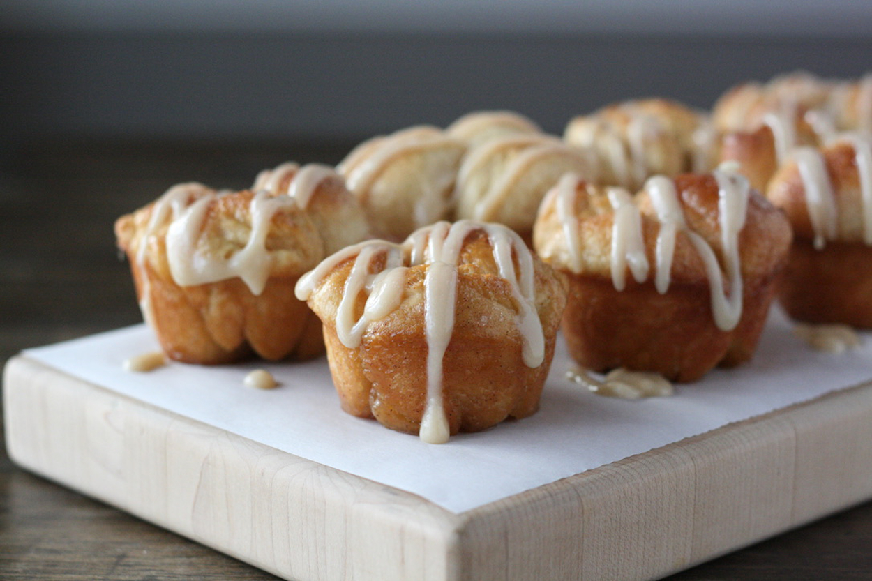 Maple Cream Cheese Monkey Bread Mini Size