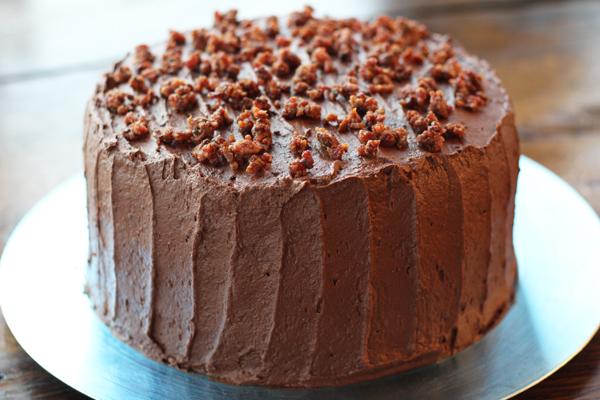 Double Chocolate Bacon Cake
