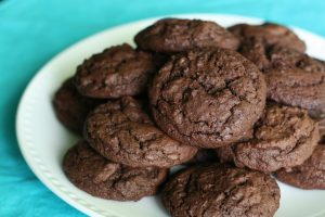 Plated Guinness Chocolate Cookies