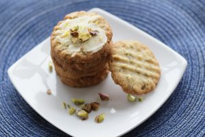 Pistachio Lemon Butter Cookies overhead