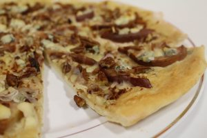 Sweet Savory Pear Dessert Pizza Sliced