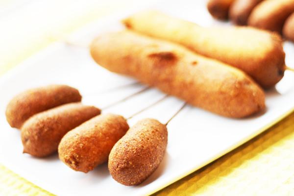 Plated corndogs