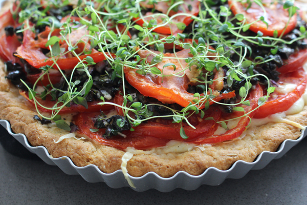 Fresh Tomato & Fontina Cheese Tart