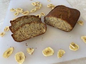 Homemade Banana Bread - Cut