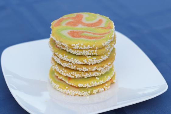 Citrus Swirl Cookie Recipe Stack Close Up