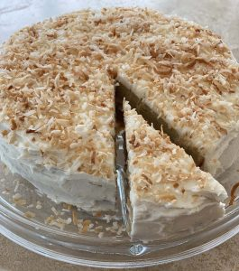 Slice of Tropical Coconut Cake, Minnesota State Fair Winner