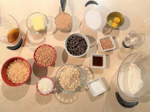 Ingredients for Chewy Brown Butter Oatmeal Cookies