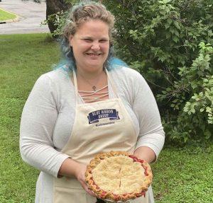 Strawberry Rhurbarb Pie winning baker