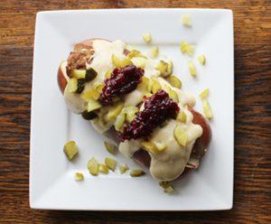 Swedish Meatball Sandwich Closeup