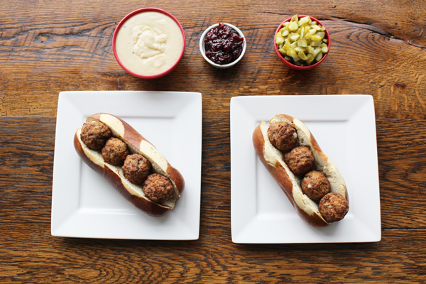 Swedish Meatball Sandwich Assembly